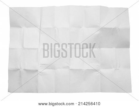 crumpled white paper on white background . Photo of an abstract texture