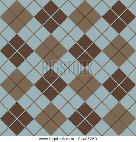 Argyle Pattern in Blue and Taupe