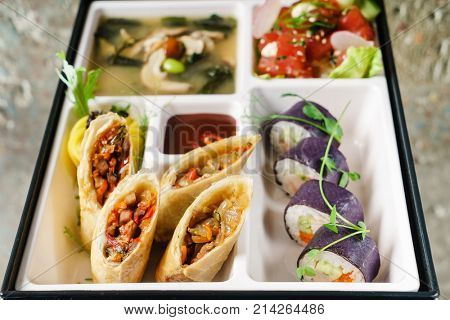 served bento box