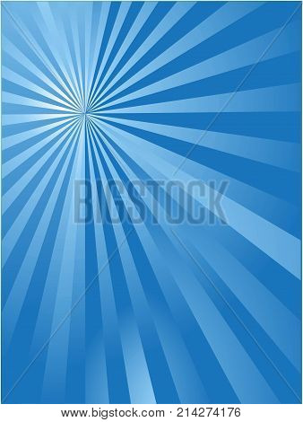 the blue sun ray background for web design