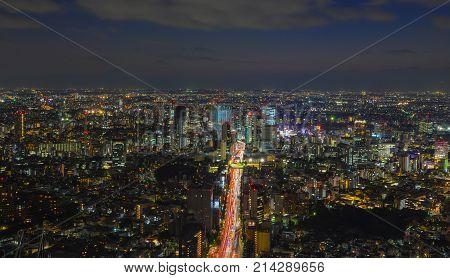 Night Scene Of Tokyo, Japan