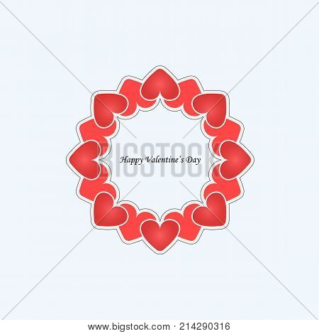 Heart signs.Vector decorative frame for greeting card or wedding invitation.Elegant element for design template.Valentine's Day abstract background.Love and Wedding concept.Vector illustration