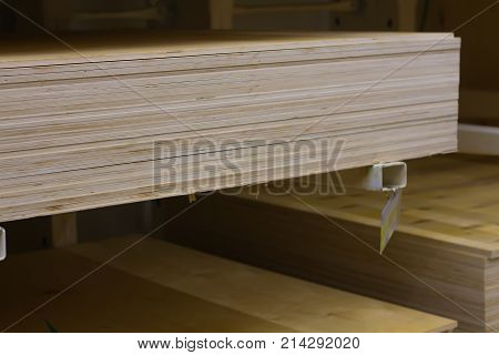 plywood panel shelf store lie a new lot in the pack mill wood timber red oak poplar cedar whitewood board siding plywood on flatbed cart