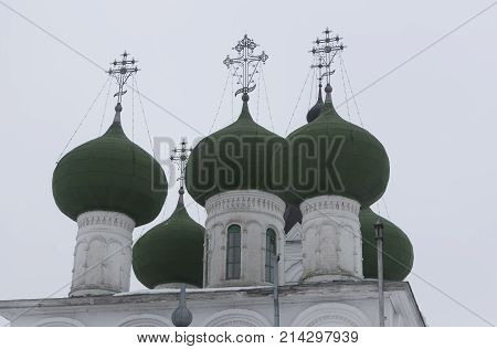 Domes of the Assumption Church, Horn Ensemble - Assumption Monastery, Vologda, Russia
