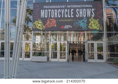 Motorcycle Show Entrance On Display