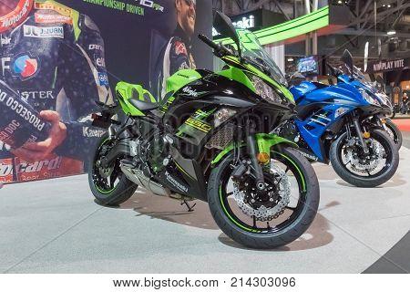 Kawasaki Ninja 650R On Display