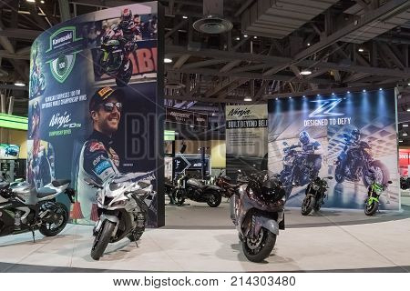 Kawasaki Motorcycles On Display