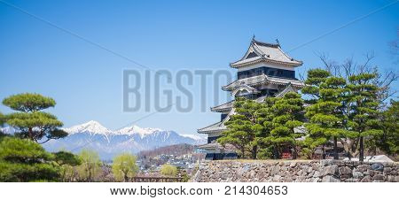 Matsumoto, Japan -  April 2, 2015:matsumoto, Japan. Matsumoto Castle Is Designated National Treasure