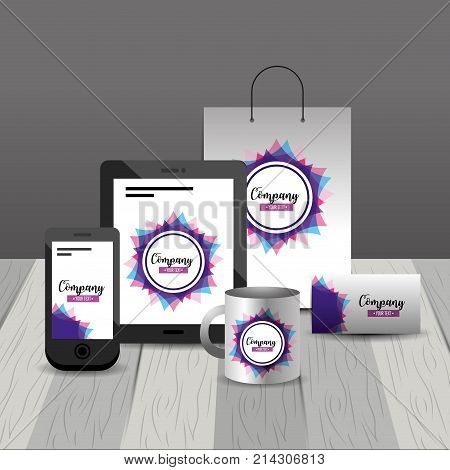 business stationary template with company asset vector illustration