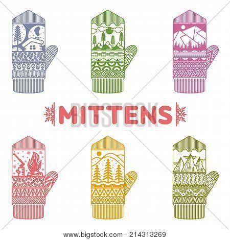 Winter Mittens Illustrations
