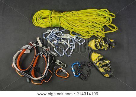 Sport Climbing - Basic Equipment Of The Climber.