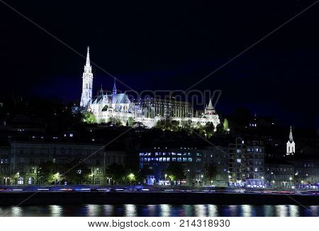 Night view  Budapest Hungary