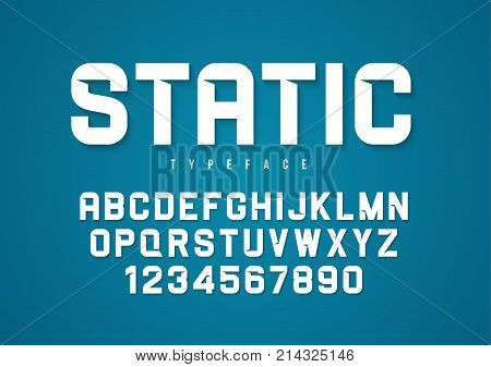 Static vector decorative bold font design, alphabet, typeface, typography
