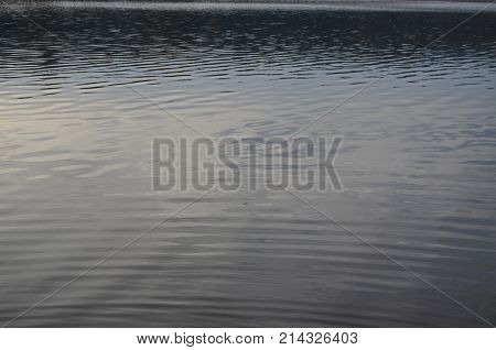 water level of the lake. South Bohemia Czech Republic