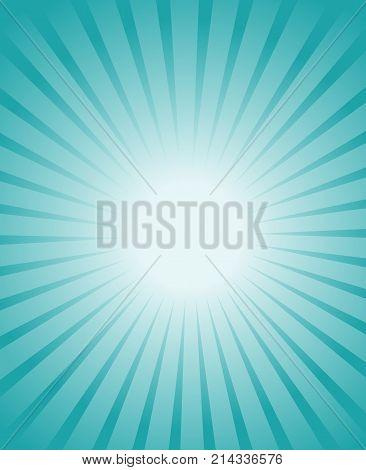burst blue ray starburst blue rays from white center vector retro background