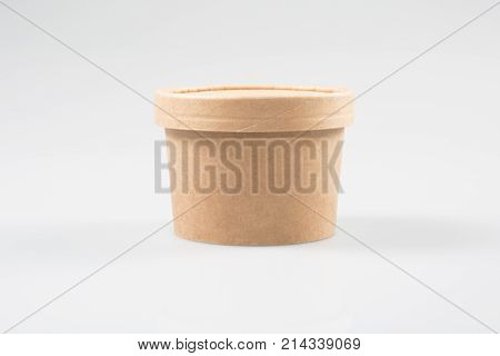 Take Away Coffee Soup Cups Isolated On White Bacground Including Clipping Path