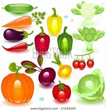 complete set vegetable.