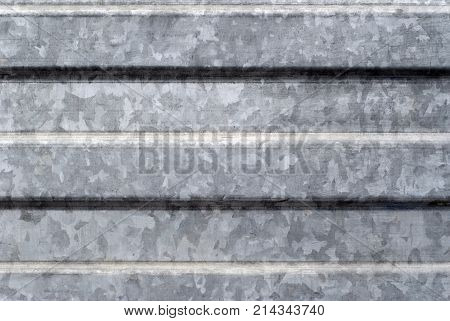 background texture: surface of profiled galvanized metal sheet