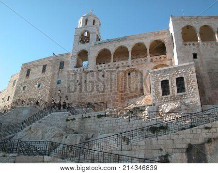 Maalula, Syria, Monastery and Christian village. Damascus, Syria, sept. 2004. Maalula people speak Aramaic language of Jesus