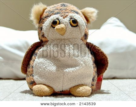Wide Plush Owl