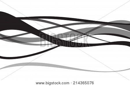 Background abstract art line wave gray patterns graphic design on white background.