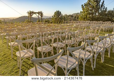 Place For Wedding Ceremony On Grass