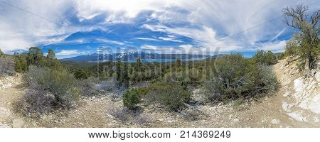 Wonderful Panorama Of Lake Arrowhead Taken On A Long Hiking Excursion In Mid Day With Some Hazy And