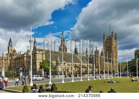 LONDON, ENGLAND - JUNE 16 2016: Collegiate Church of St. Peter at Westminster, London, England, Great Britain