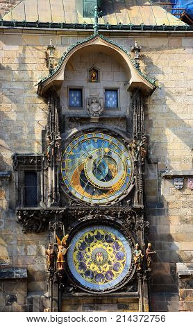 The Prague astronomical clock is a medieval astronomical clock located in Prague the capital of the Czech Republic