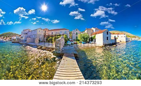 Island Town Of Vis Idyllic Waterfront View