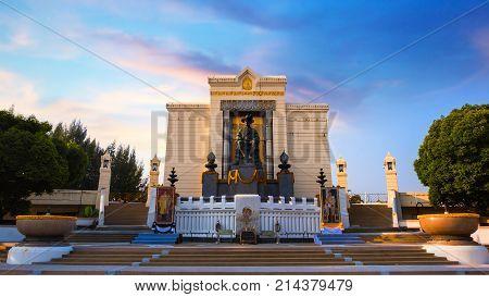 Bangkok, Thailand - October 29 2017: The Monument Of King Phutthayotfa Chulalok Or The King Rama I T