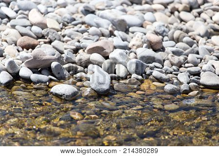 Stones in water Nature . In the park in nature