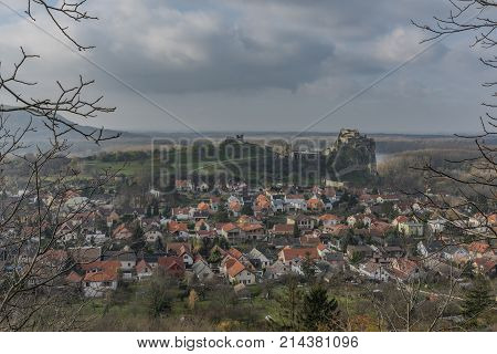 View For Devin Village And Castle In Autumn Cloudy Day