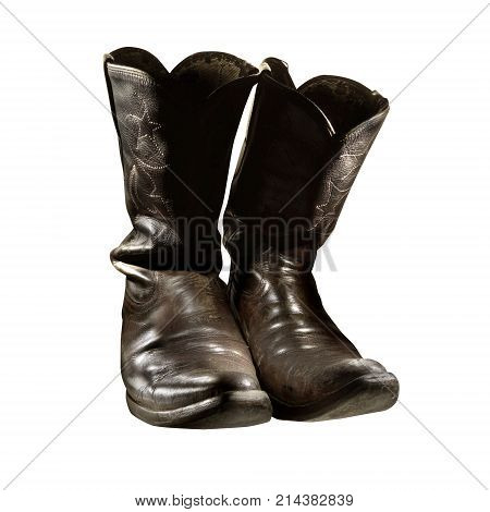 A pair of boots with leather base, comfortable to wear and protect the feet. Beautiful footwear.