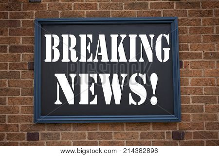 Conceptual Hand Writing Text Caption Inspiration Showing Announcement Breaking News. Business Concep