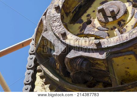 Abstract Textures And Shapes: Aging Metal Machinery