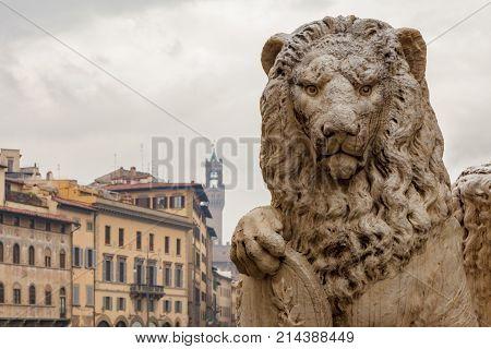 Lion Of Dante Statue
