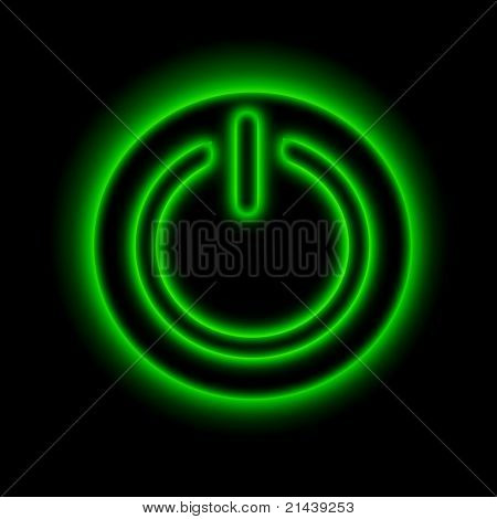 picture of power button against black background