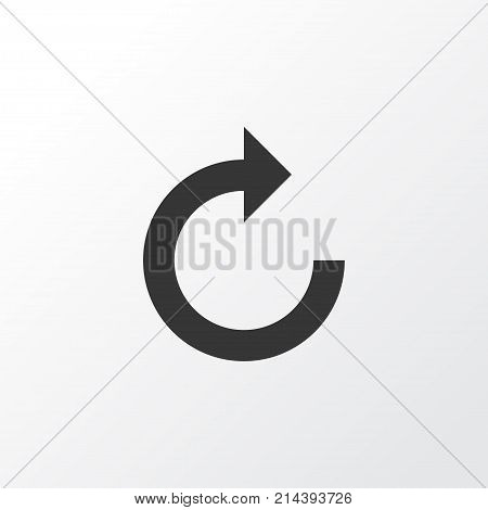 Refresh Right Icon Symbol. Premium Quality Isolated Reload Element In Trendy Style.