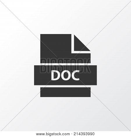Text Icon Symbol. Premium Quality Isolated Doc Element In Trendy Style.