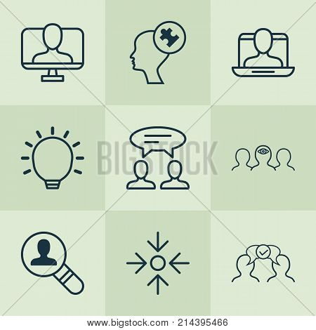 Corporate Icons Set With Business Aim, Great Glimpse, Online Identity And Other Online Identity Elements. Isolated Vector Illustration Corporate Icons.