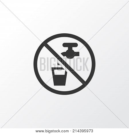 Non Potable Water Icon Symbol. Premium Quality Isolated Drinkable Element In Trendy Style.