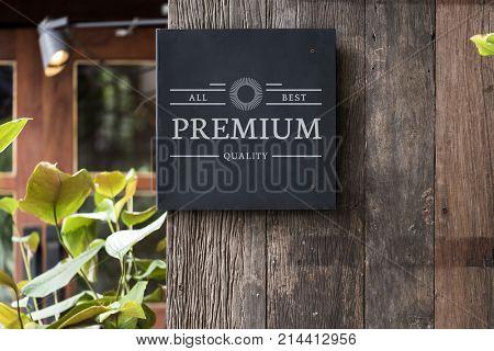 Mockup signage outdoor