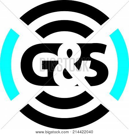 Letter G & S Sound Service Production Logo Design Template Vector