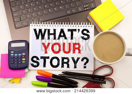 Word Writing Question What Is Your Story In The Office With Surroundings Such As Laptop Marker Pen S
