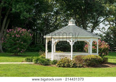 Pavilion Gazebo In A Garden Park