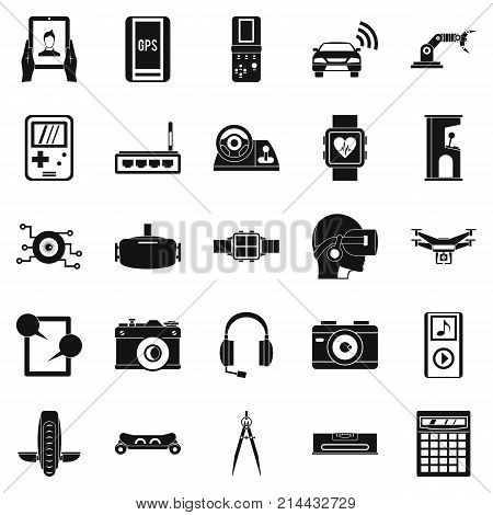 Setting icons set. Simple set of 25 setting vector icons for web isolated on white background