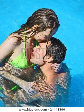 Honeymoon Lovers Smiling