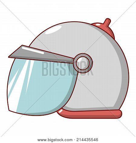 Motorcycle helmet scooter icon. Cartoon illustration of motorcycle helmet scooter vector icon for web
