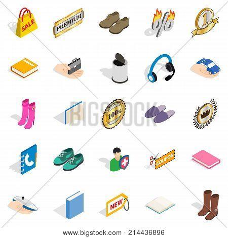 Advertising campaign icons set. Isometric set of 25 advertising campaign vector icons for web isolated on white background